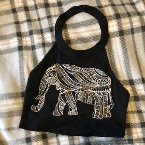 Crop top elephant